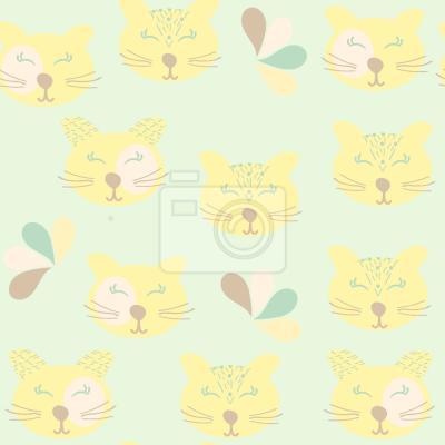 Tapeta Szczęśliwe Dzikie Koty