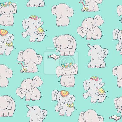 Tapeta Szczęśliwe Słonie
