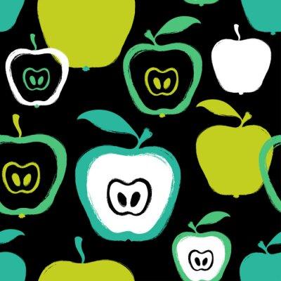 Tapeta Szczotkarski Grunge Apple Bezszwowy wzór.