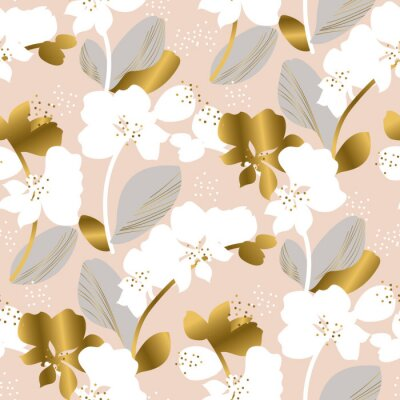 Tapeta Tender pastel color orchid flower repeatable motif