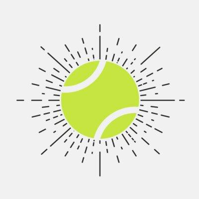 Tapeta Tenis starodawny logo, ikona, etykieta. Ilustracji wektorowych