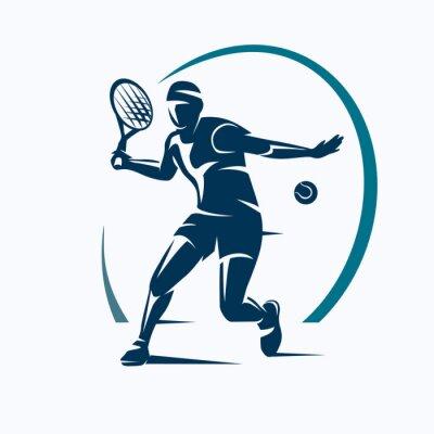 Tapeta Tenisista stylizowane wektora sylweta, godło lub szablon logo