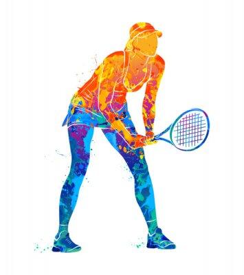Tapeta tenisista, sylwetka