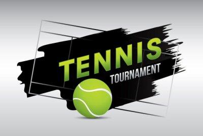 Tapeta Tenisowy turniej odznaka projekt z piłką na sądzie.