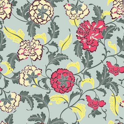 Tapeta tradycyjnie kwiatowy wzór