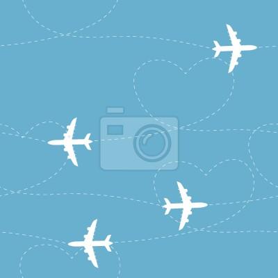 Tapeta Trasy samolotów