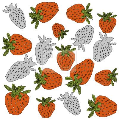 Tapeta truskawki Czerwony