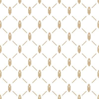 Tapeta Ucho wzór bez szwu brązowy kolor na białym tle do dekoracji naturalny sklep produktów, rynek piekarni, sklep ekologiczny, natura firma, firma ekologia, ogród, rolnictwo, las. Ilustracja wektora