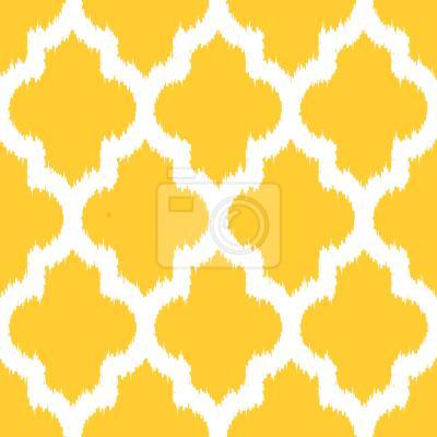 Tapeta Unikatowy Ikat Żółty