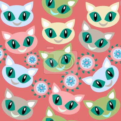 Tapeta Uśmiechnięte koty
