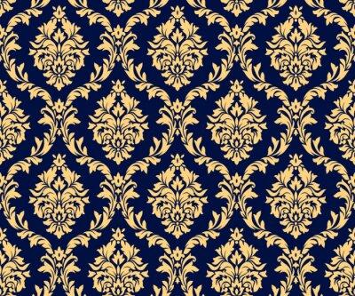 Tapeta Vector seamless damask gold patterns. Rich ornament, old Damascus style gold pattern