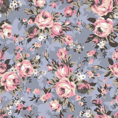 Tapeta Vintage chintz róż bez szwu deseń