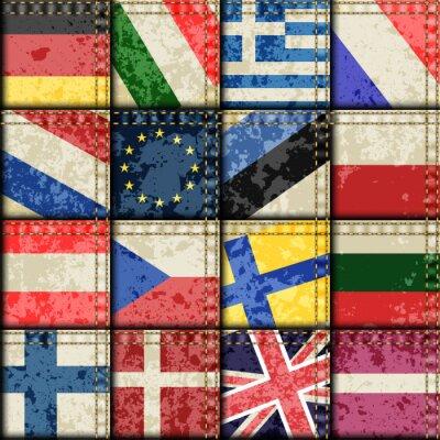 Tapeta Vintage Europa wzór patchworku