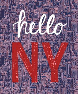 Tapeta Vintage plakat z cytatem Nowym Jorku