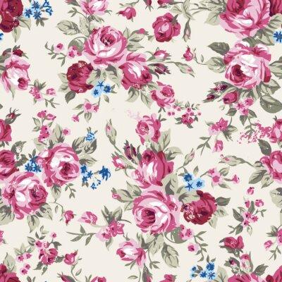 Tapeta Vintage wzór róż perching
