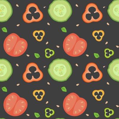 Tapeta Warzywa wzór