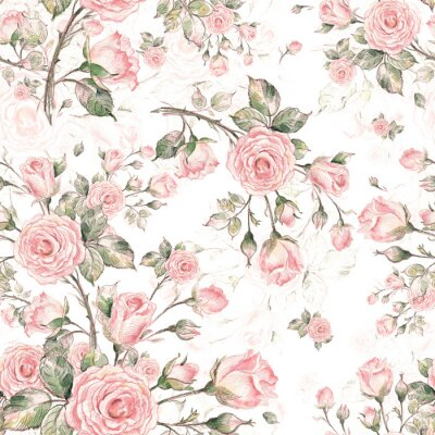 Tapeta  Watercolor Seamless Rose Pattern G.jpg