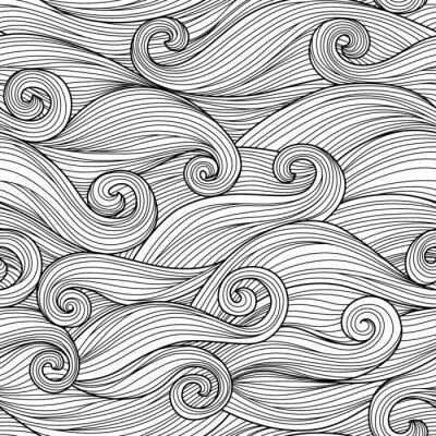 Tapeta Wektor bez szwu z abstrakcyjnymi fali