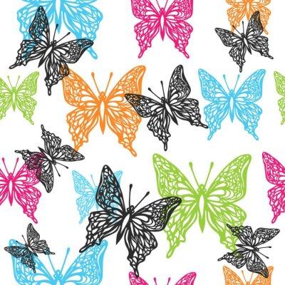 Tapeta wektor bezszwowe tło motyl