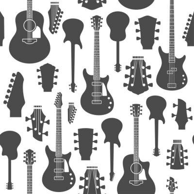 Tapeta Wektor gitary wzór lub tła