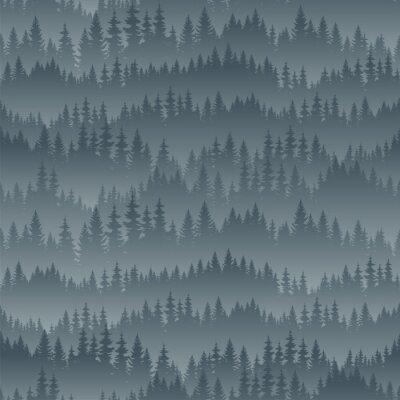 Tapeta wektor Góry Las tekstury tła bez szwu wzór