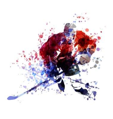 Tapeta Wektor kolorowe ilustracji hokeja