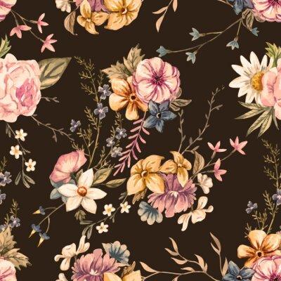 Tapeta Wektor kwiatowy wzór akwarela