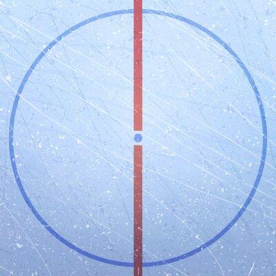Tapeta Wektor lodowisko hokejowe. Tekstury niebieski lód. Lodowisko. Hokej na lodzie stadion. Rysunek pola gry. Środkowy okrąg i punkt rzutu. Stadion hokejowy. Ilustracji wektorowych w tle.