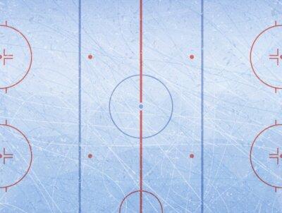 Tapeta Wektor lodowisko hokejowe. Tekstury niebieski lód. Lodowisko. Ilustracji wektorowych w tle.