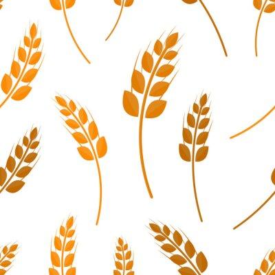 Tapeta Wektor p? Aski wzór bez szwu pszenicy na bia? Ym tle. Pojęcie piekarni, żywności ekologicznej i zbiorów.