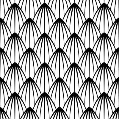 Tapeta Wektorowa bezszwowa tekstura. Nowoczesne geometryczne tło. Monochromatyczny powtarzalny wzór z fantastycznymi postaciami.