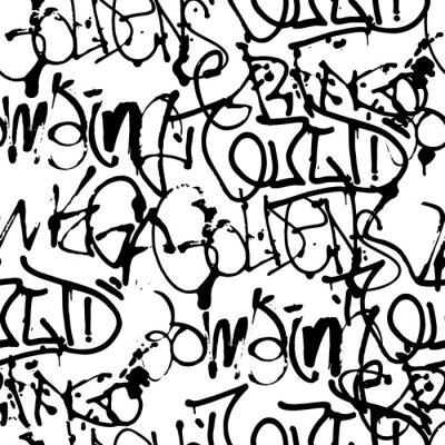 Tapeta Wektorowi graffiti bezszwowy wzór z abstrakcjonistycznymi etykietkami