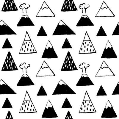 Tapeta Wektorowy bezszwowy wzór z górami