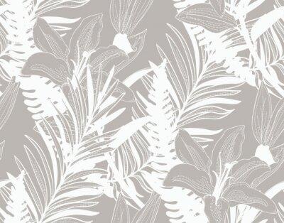 Tapeta Wektorowy Kolorowy Bezszwowy wzór z Rysującymi kwiatami
