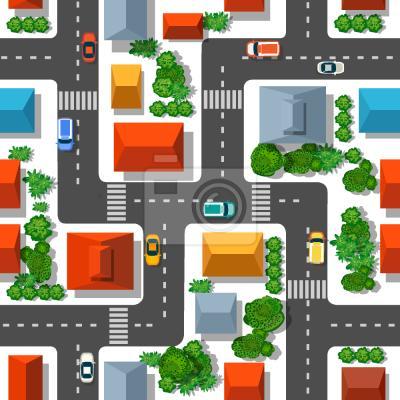 Tapeta Widok Miejski Z Powyżej