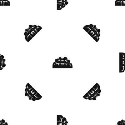 Tapeta Wodospad wzór bez szwu czarny