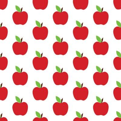 Tapeta wzór jabłko na białym tle