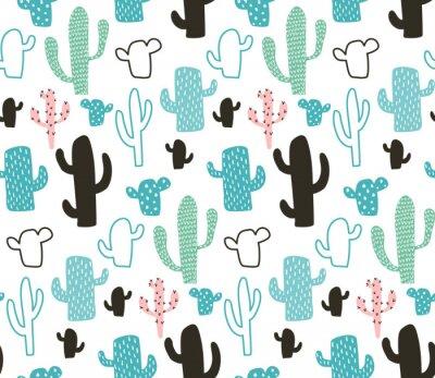 Tapeta wzór kaktusa