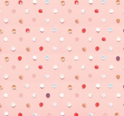 Tapeta Wzór kropki z konfetti