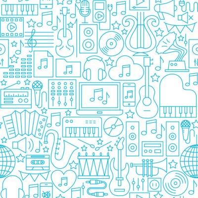 Tapeta Wzór muzyczny białej linii