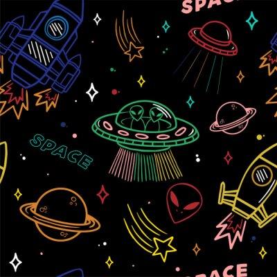 Tapeta Wzór na temat przestrzeni