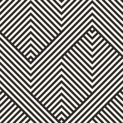 Tapeta Wzór paski. Wektorowy geometryczny linia wzór. Streszczenie ornament paski. Czarny i biały