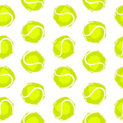 Tapeta Wzór piłka tenisowa. Tło dla projektu sportowego, ulotki, baner, plakat, reklama. Druki na tekstylia, T-shirty.
