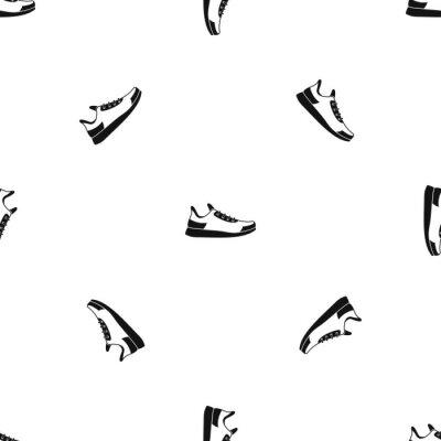 Tapeta Wzór sneakers bez szwu czarny