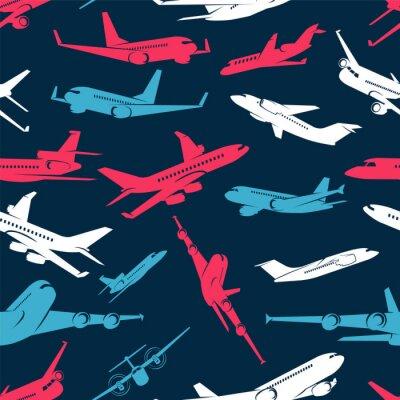 Tapeta Wzór z kolorowych samolotów