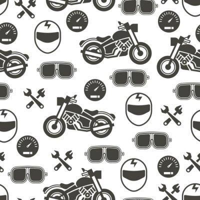 Tapeta Wzór z motocykl prędkości - moto wzór