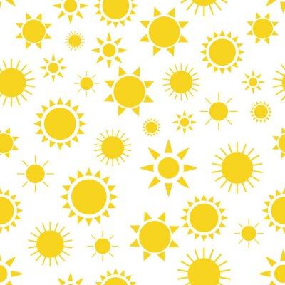 Tapeta Wzór z ręcznie rysowane doodle słońc.