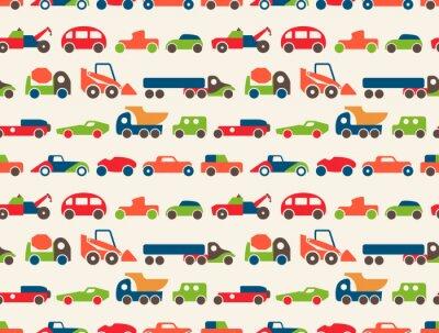 Tapeta wzór z samochodzikami