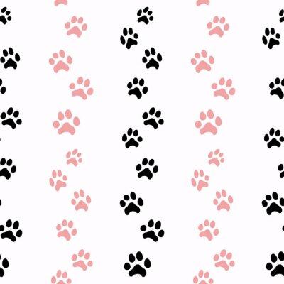 Tapeta Wzór z śladami kotów