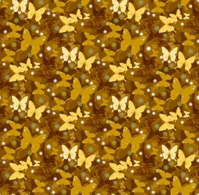 Tapeta wzory batterfly bez szwu